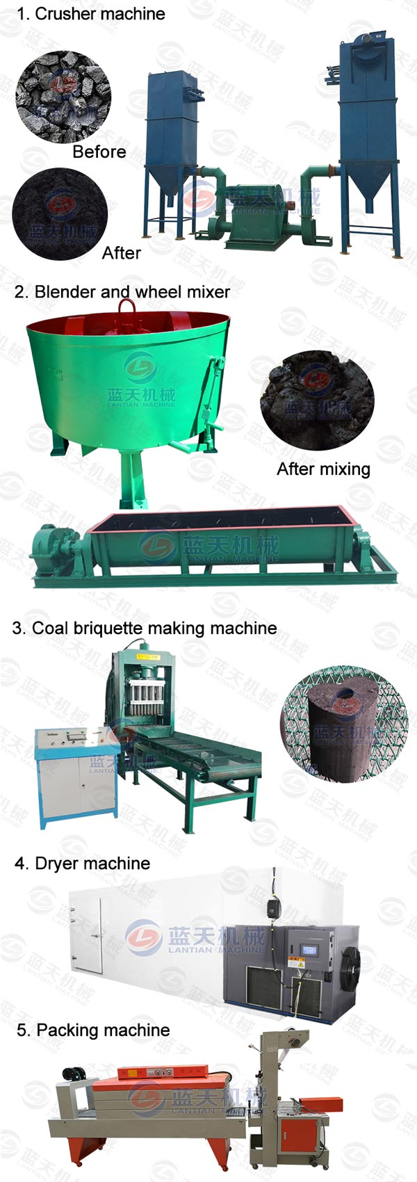 coal briquetting press machine