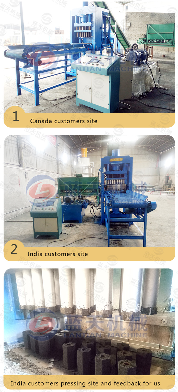 Customers Site of Biomass Charcoal Briquette Machine