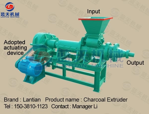 Machine details of charcoal extruder
